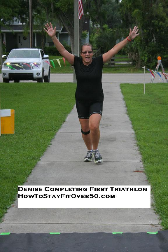 Denise Finishing Triathlon How To Stay Fit Over 50