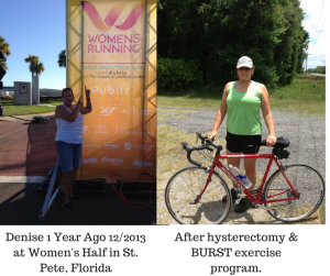 Denise Before & After BURST program.